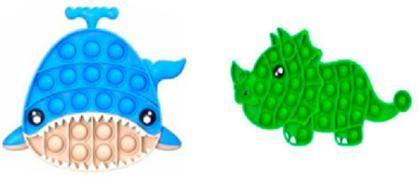 Plop Up! Fidget Game, Wal und Dinosaurier - (Kinderspiel)