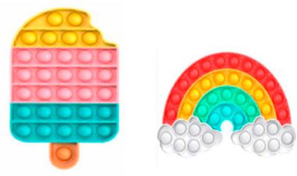 Plop Up! Fidget Game, Regenbogen & Eis - (Kinderspiel)
