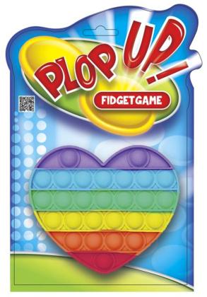 Plop Up! Fidget Game, Rainbow Herz - (Kinderspiel)