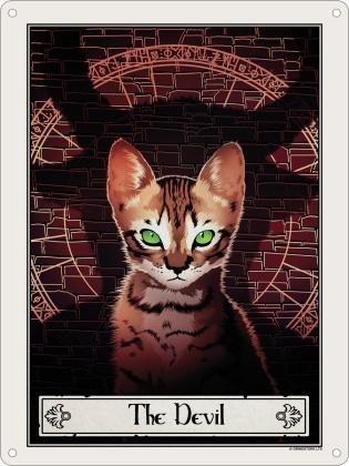 Deadly Tarot Felis: The Devil - Mini Tin Sign