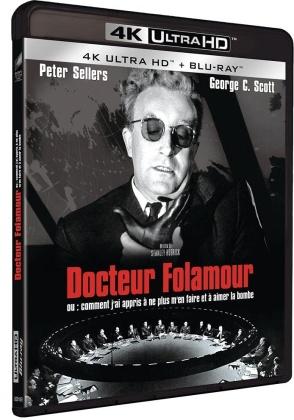 Docteur Folamour - ou: comment j'ai appris à ne plus m'en faire et à aimer la bombe (1964) (s/w, 4K Ultra HD + Blu-ray)