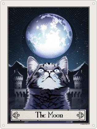 Deadly Tarot Felis: The Moon - Mini Tin Sign