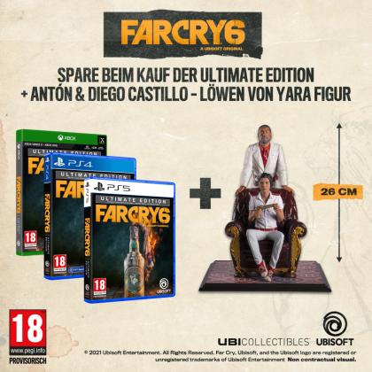 Far Cry 6 Ultimate Edition + Antón & Diego Castillo - Löwen von Yara Figur Bundle