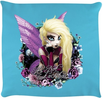 Hexxie Izzy: It's Not Just a Phase - Sky Blue Cushion