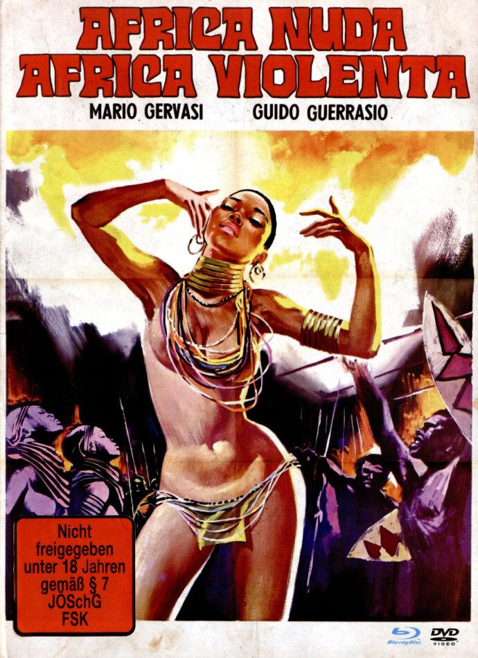 Africa Nuda, Africa Violenta (1974) (Cover B, Unzensiert, Limited Edition, Mediabook, Remastered, Uncut, Blu-ray + DVD)