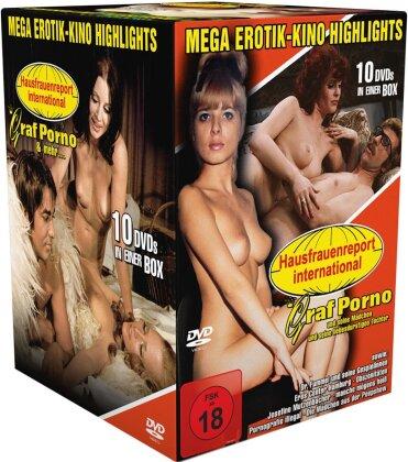 Mega Erotik-Kino-Highlights - Hausfrauenreport international - Graf Porno & mehr... (10 DVDs)