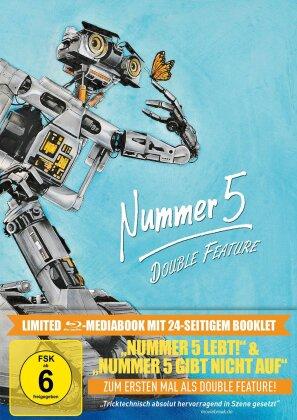 Nummer 5 Double Feature - Nummer 5 lebt! & Nummer 5 gibt nicht auf (Limited Edition, Mediabook)