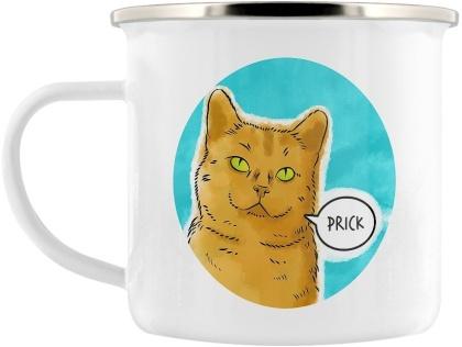 Cute But Abusive: Prick - Enamel Mug