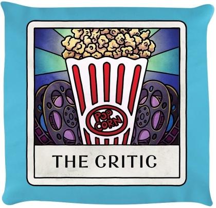 Deadly Tarot Life: The Critic - Sky Blue Cushion