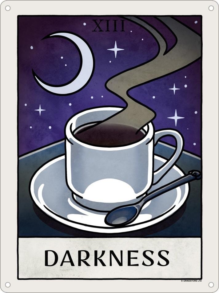 Deadly Tarot Life: Darkness - Mini Tin Sign