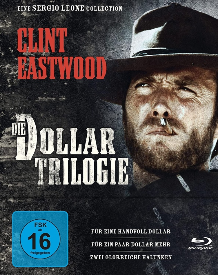 Die Dollar Trilogie - Für eine Handvoll Dollar / Für ein paar Dollar mehr / Zwei glorreiche Halunken (Edizione Limitata, Mediabook, 3 Blu-ray)