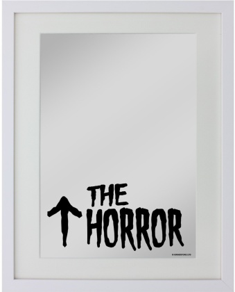 The Horror - Small Mirrored Tin Sign