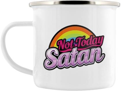 Not Today Satan - Enamel Mug
