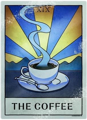 Deadly Tarot Life: The Coffee - Small Rectangular Chopping Board
