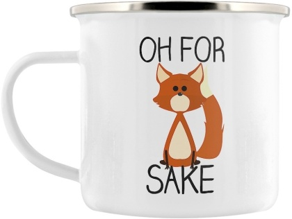 Oh For Fox Sake - Enamel Mug