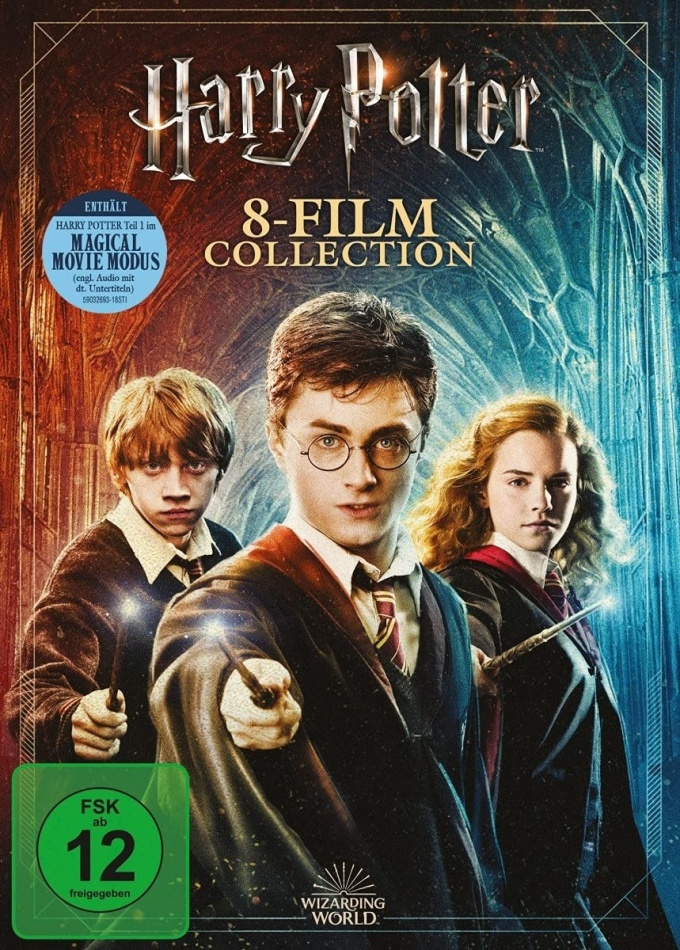 Harry Potter 1-7 - Complete Collection - Magical Movie Mode (Jubiläumsedition, 9 DVDs)