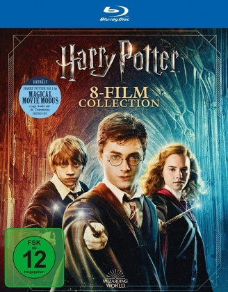 Harry Potter 1-7 - Complete Collection - Magical Movie Mode (Jubiläumsedition, 9 Blu-rays)