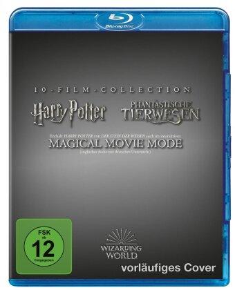 Harry Potter / Phantastische Tierwesen - Wizarding World - 10-Film Collection - Magical Movie Mode (Jubiläumsedition, 11 Blu-rays)