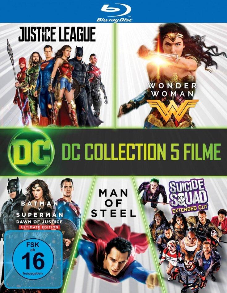 DC Collection 5 Filme - Justice Legue / Wonder Woman / Batman v Superman - Dawn of Justice / Man of Steel / Suicide Squad (7 Blu-rays)