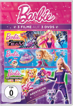 Barbie Abenteuer-Edition - Barbie: Das Agenten-Team / Barbie: Das Sternenlicht-Abenteuer / Barbie: Die Videospiel-Heldin (3 DVDs)