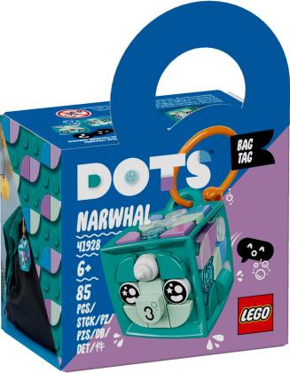 Taschenanhänger Narwal - Lego Dots, 85 Teile,