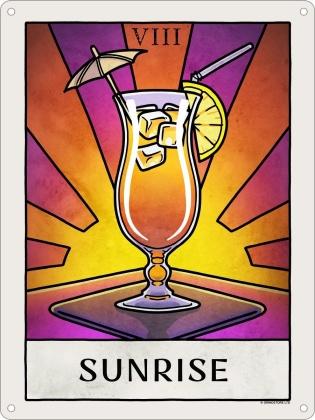 Deadly Tarot Life: Sunrise - Mini Tin Sign