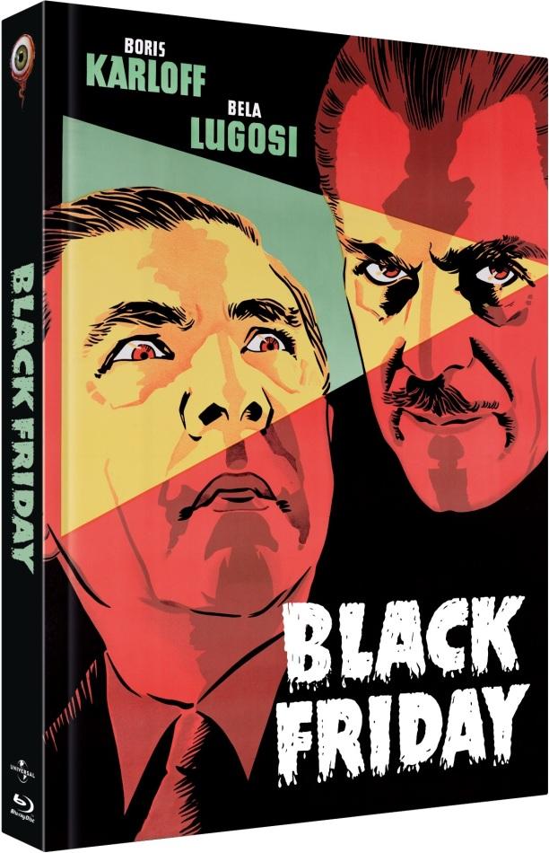 Black Friday (1940) (Cover B, n/b, Collector's Edition Limitata, Mediabook, Blu-ray + DVD)