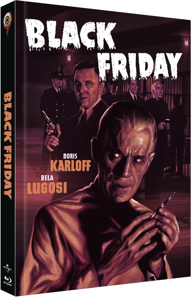 Black Friday (1940) (Cover C, Collector's Edition Limitata, Mediabook, Uncut, Blu-ray + DVD)