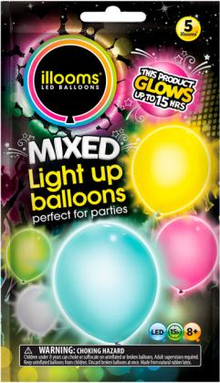 SUNNY LED-Ballone 5 Stck in verschiedenen Farben!
