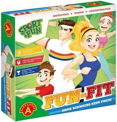 Sport & Fun - Fun Fit Brettspiel - Für 2-4 Spieler (Großes Spielbrett circa 42 x 34 cm)