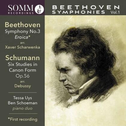 Ludwig van Beethoven (1770-1827), Franz Xaver Scharwenka, Tessa Uys & Ben Schoeman (Klavier) - Symphonies 1 For Piano Duuo