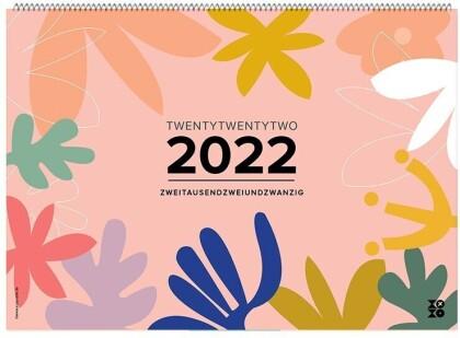 """Wandkalender """"Good Vibes!"""" 2022"""