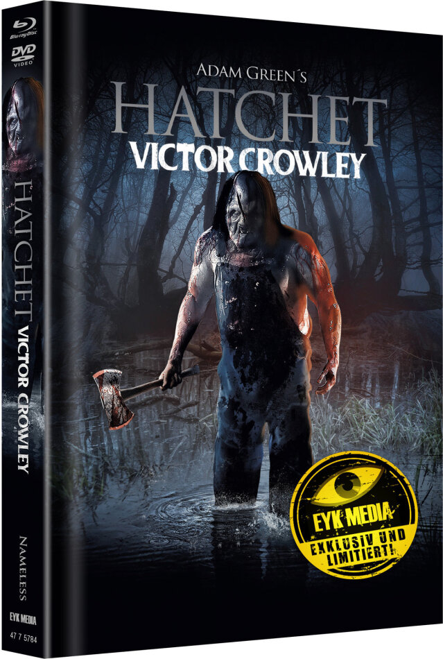 Hatchet 4 - Victor Crowley (2017) (Cover B, Limited Edition, Mediabook, Blu-ray + DVD)