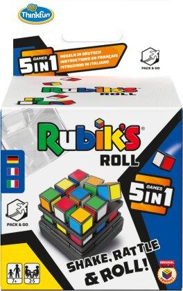 ThinkFun - 76458 - Rubik's Roll - Die Rubik's Spielesammlung für Jungen und Mädchen ab 8 Jahren in praktischer Mitnahmebox. Ein tolles Geschenk für alle Fans des original Rubik's Cube.