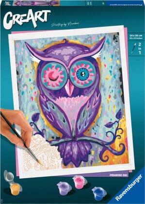 Malset Dreaming Owl, d/f/i - CreArt, Malen nach Zahlen,