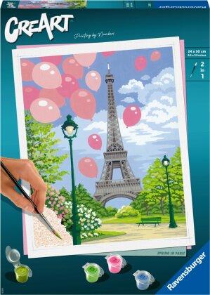 Malset Spring in Paris,d/f/i - CreArt, Malen nach Zahlen,