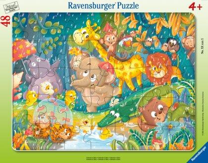 Ravensburger Kinderpuzzle 05177 - Es regnet! - 30-48 Teile Rahmenpuzzle für Kinder ab 4 Jahren