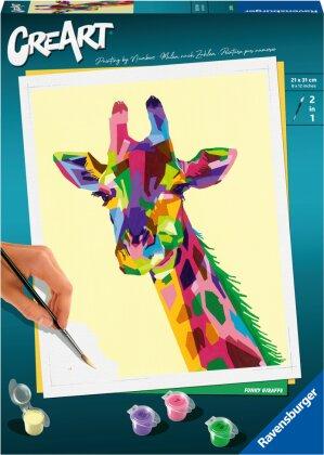 Malset Funky Giraffe, d/f/i - CreArt, Malen nach Zahlen,