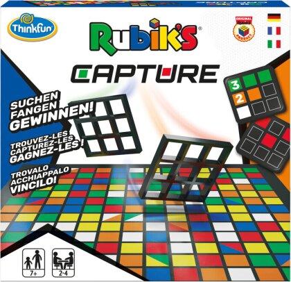 ThinkFun - 76463 - Rubik's Capture - das rasante Farben- und Muster-Suchspiel für 4 Personen ab 7 Jahren. Ein schnelles Spiel für Jungen und Mädchen.