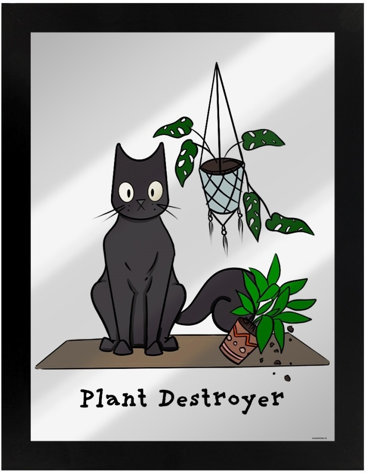 Spooky Cat: Plant Destroyer - Mittoted Tin Sign