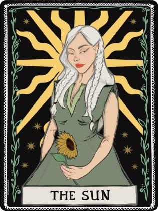 Spiritual Sun Tarot - Mini Tin Sign