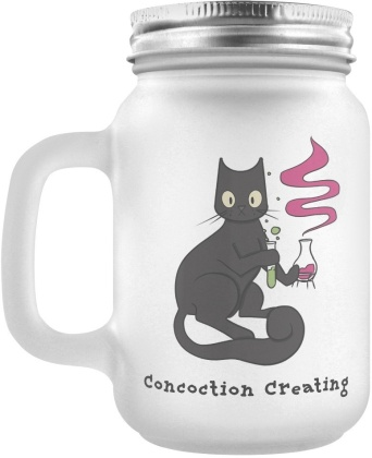 Spooky Cat: Concoction Creating - Frosted Mason Jar