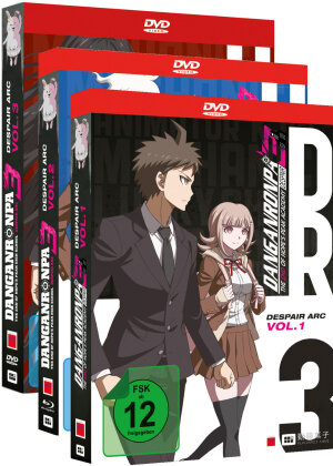 Danganronpa 3 - The End of Hope's Peak High School - Despair Arc - Vol. 1-3 (Gesamtausgabe, Bundle, 3 DVDs)