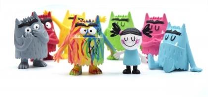 Das Farbenmonster-Set - 8 Figuren, je 6.5cm