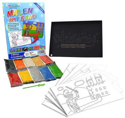 Kinder-Sand-Bilder - Jungs A5 Set