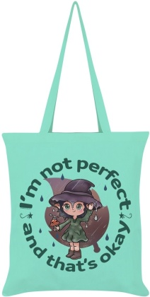 Kooky Witch: Not Perfect and That's Okay - Mint Green Tote Bag