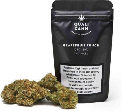 Qualicann Grapefruit Punch (5.5g) - Indoor (CBD: <20% THC: <0.8%)