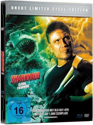 Sharknado 5 - Global Swarming (2017) (Steel Edition, Limited Edition, Uncut, Blu-ray + DVD)