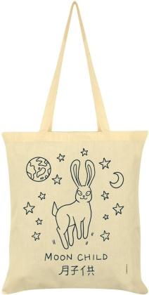 Kawaii Bunny: Moon Child - Cream Tote Bag