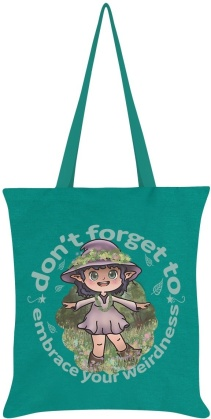Kooky Witch: Embrace Your Inner Weirdness - Emerald Green Tote Bag